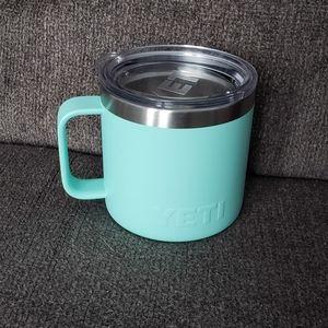 Seafoam 14 oz Yeti Mug with Lid